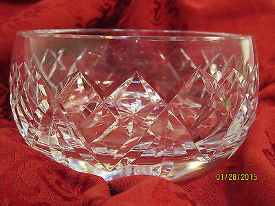 WATERFORD CRYSTAL Round Bowl Beautiful Collictible