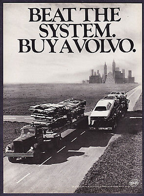 """1971 Crushed Cars photo Buy Volvo """"Beat the System"""" Ad"""