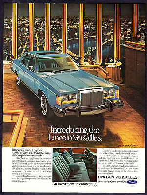1977 Lincoln Versailles 4-door Sedan photo car print ad