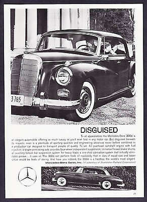 """1959 Mercedes-Benz 300D Hardtop photo """"Disguised"""" Ad"""