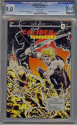 Caliber Presents #1 Cgc 9.0 White Pages 1St The Crow