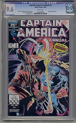 Captain America Annual #8 Cgc 9.6 White Pages