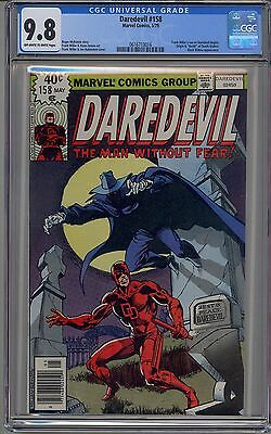 Daredevil #158 Cgc 9.8 Off-White To White Pages 1St Frank Miller