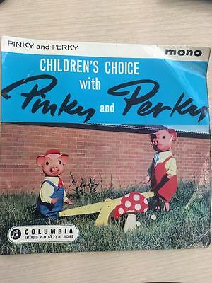 "Pinky & Perky Childrens Choice With Pinky & Perky UK 45 7"" Vinyl 1960"