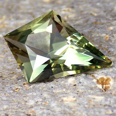 GREEN DICHROIC SCHILLER OREGON SUNSTONE 4.09Ct FLAWLESS-FOR HIGH-END JEWELRY!