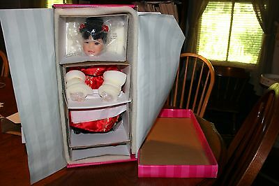 "NEW Marie Osmond's TAKI Children of the World Collection 16"" Resin Doll w/ Stand"