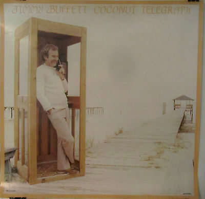 "Jimmy Buffett - COCONUT TELEGRAPH Promo Poster [1980] - Near Mint  - 23""X23"""
