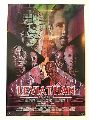Original Leviathan Story Of Hellraiser And Hellbound Hellraiser II Poster 2015