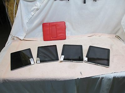 Lot of 4 Ipads for Parts or Repair