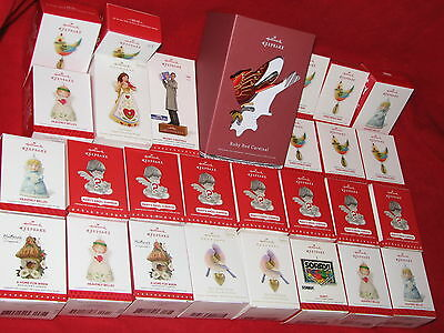28 HALLMARK Ornament LOT includes ALL Pictured Many Current Series Ornaments