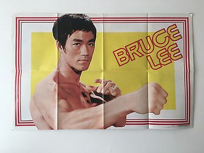 Original Bruce Lee Double Sided Roadshow Magazine Poster August 1974