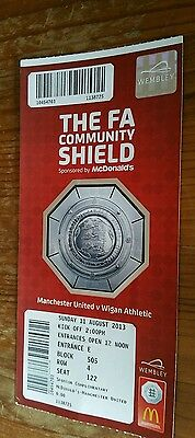 2013 Community Shield ticket Excellent condition