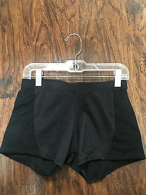 NEW 7169 Motionwear Black Children's Shorts with Mesh Side Panels