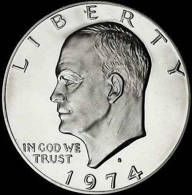1974-S GEM Clad PROOF Eisenhower Dollar - Best Value From CherrypickerCoins
