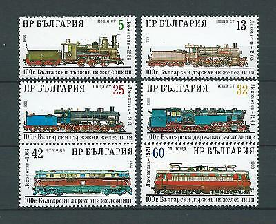 BULGARIE TRAINS - 1988 YT 3149 à 3154 - TIMBRES NEUFS** LUXE