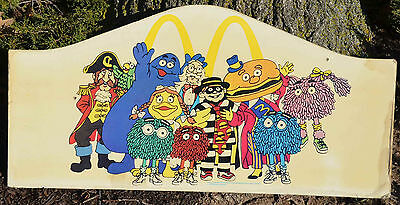 "Vintage Original McDONALD's PLAYGROUND McDONALDLAND SIGN 17 x 35"" Fast Food 1987"