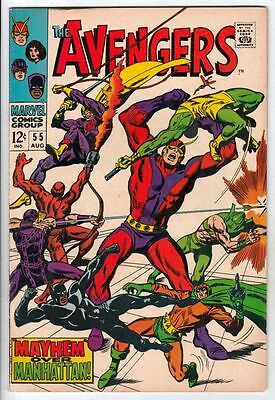 """The Avengers #55 strict FN/VF-  7.0  High-Grade 1st Full Ultron """"Age Of Ultron"""""""