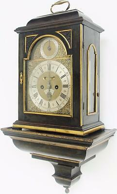 Antique 18thc English Twin Fusee Verge Bracket Clock 6 Bell Musical Pull Repeat