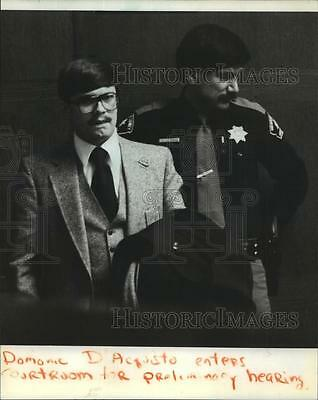 1981 Press Photo Milwaukee police officer, Domonic D'Acquisto accused of beating