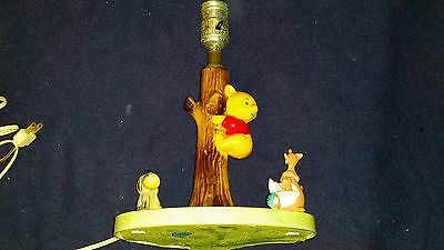 Winnie the Pooh Lamp with Friends made of plastic