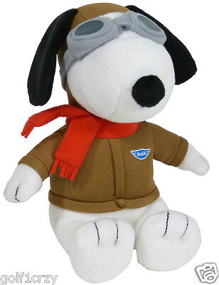 METLIFE SNOOPY Aviator Flying Ace Red Baron Peanuts Movie Pilot PLUSH DOG NEW