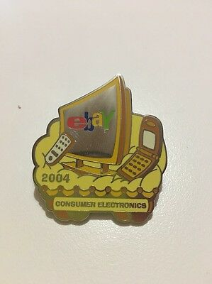 eBay Live New Orleans 2004 Yellow Monochromatic Toys Category Pin Sealed