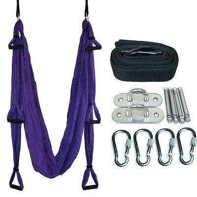Yoga Swing Hammock Pilates Aerial Anti-Gravity Inversion Complete Set 9 Colors