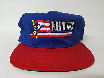 Puerto Rico Red White Blue Adjustable Snapback Hat