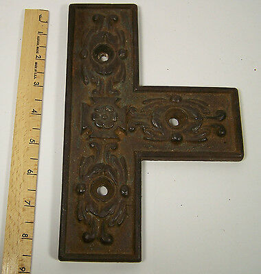 Cast Iron Architectural Hardware Door Barn Ornate BRACKET Brace