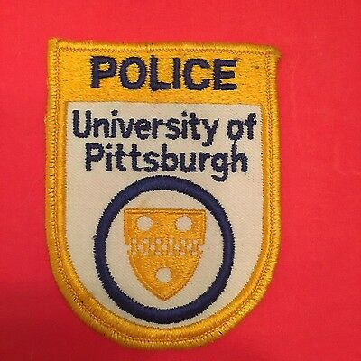 University Of Pittsburgh  Police Shoulder Patch  Old Used