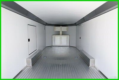 2017 20+5 Aluminum Enclosed Cargo Carhauler Trailer - Escape Door, Cabinets