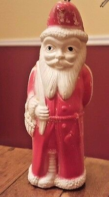 Rare Antique 1920s Irwin Celluloid Belsnickle Santa W/ Doll Christmas Figure Toy