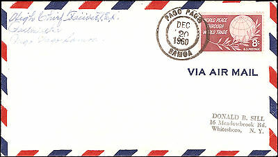 Pago Pago Samoa to Whitesboro NY 1960. Sender was the High Chief Faiivae