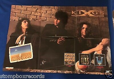 vintage 1990 Kings X Faith Hope Love LP 2 SIDED PROMO POSTER Megaforce 24x36in