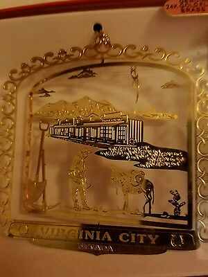 Virginia City Nevada 24k gold finish Brass Ornament