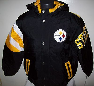 PITTSBURGH STEELERS STARTER KNOCKOUT Winter Jacket S, M, L, XL, 2X