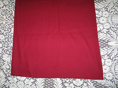 """NOS Vintage 100% Wool Fabric UNUSED~Cranberrry Red  56"""" X 54"""" Wide"""