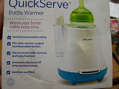 New* The First Years Quick Serve Baby Bottle Warmer Lot #E