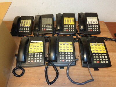One lot of 7 AT&T 107854812 Telephones Black WORKING Free Shipping !