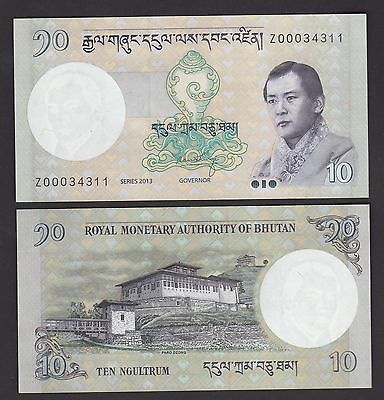 Bhutan 10 Ngultrum (2013) P29 REPLACEMENT #Prefix Z - UNC