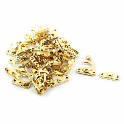 Vintage Style Metal Swing Bag Chest Hasp Box Latch Hook Lock Gold Tone 20 Sets