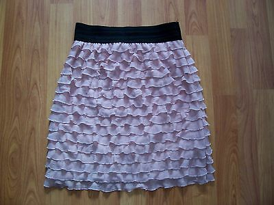 Trendy pink/peach layered rara style short skirt from New look, age 14-15yrs