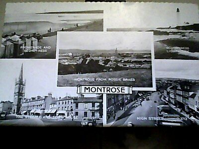 post card montrose multi view valentines posted 1961 r/p scotland