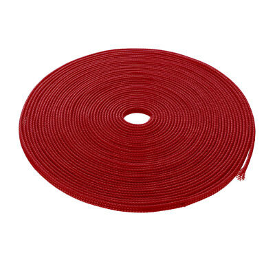 3mm Dia Tight Braided PET Expandable Sleeving Cable Wire Wrap Sheath Red 10M
