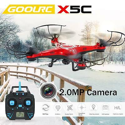 GOOLRC X5C 2.4GHz 4CH 6-axis Gyro with 2.0MP HD Camera RC Quadcopter Drone Y1H2