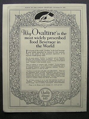 1930s advert for OVALTINE most widely prescribed food beverage advertising 1935