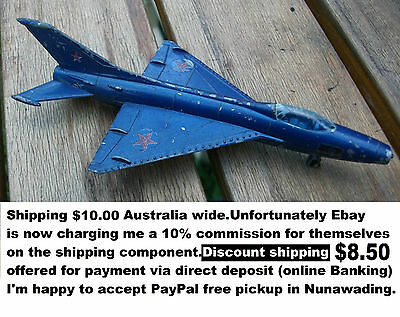 Die Cast MIG 21 Jet fighter by LINTOY good condition