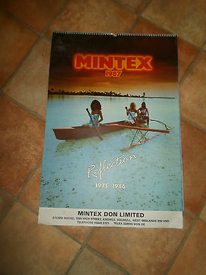 Large Vintage Retro Collectable MINTEX CALENDAR REFLECTIONS 1975-1986 (GIRLS)