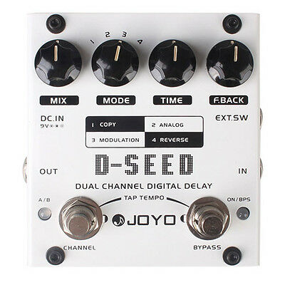JOYO D-SEED Dual Channel Digital Delay Guitar Effect Pedal - CLEARANCE BARGAIN