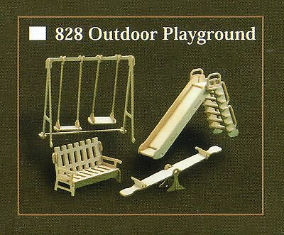 OUTDOOR PLAYGROUND FURNITURE KIT IN 12th SCALE FOR DOLLS HOUSE, BRAND NEW